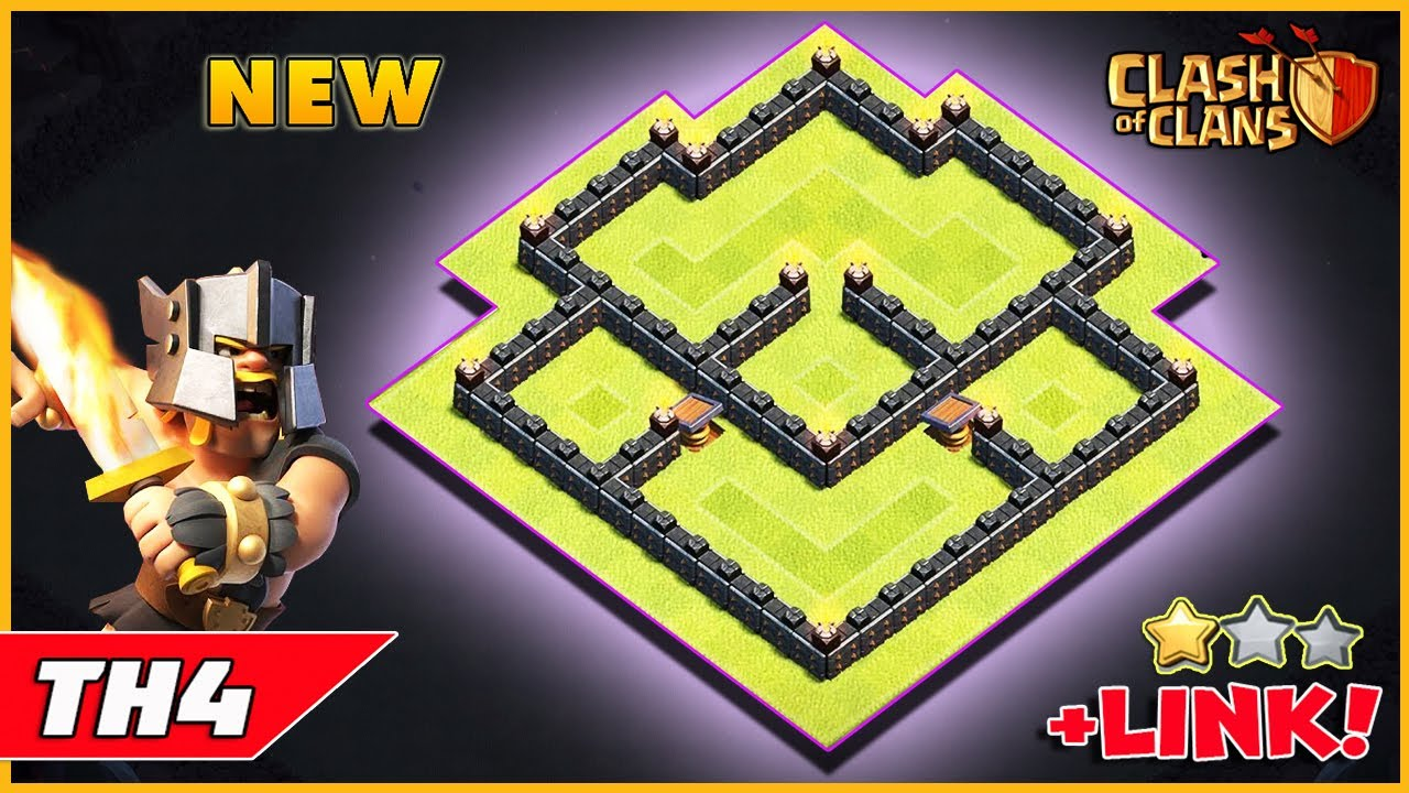 Clash Of Clans Town Hall 4 Best Base Layout 2019 Youtube