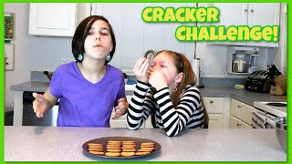 Challenge - Saltine Ritz Cracker Eating Fun with Friends Mal Web Family