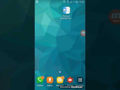2 SİLİNEN REHBER geri getirme numaralar kişiler kayboldu android telefondan rehberi kurtarma