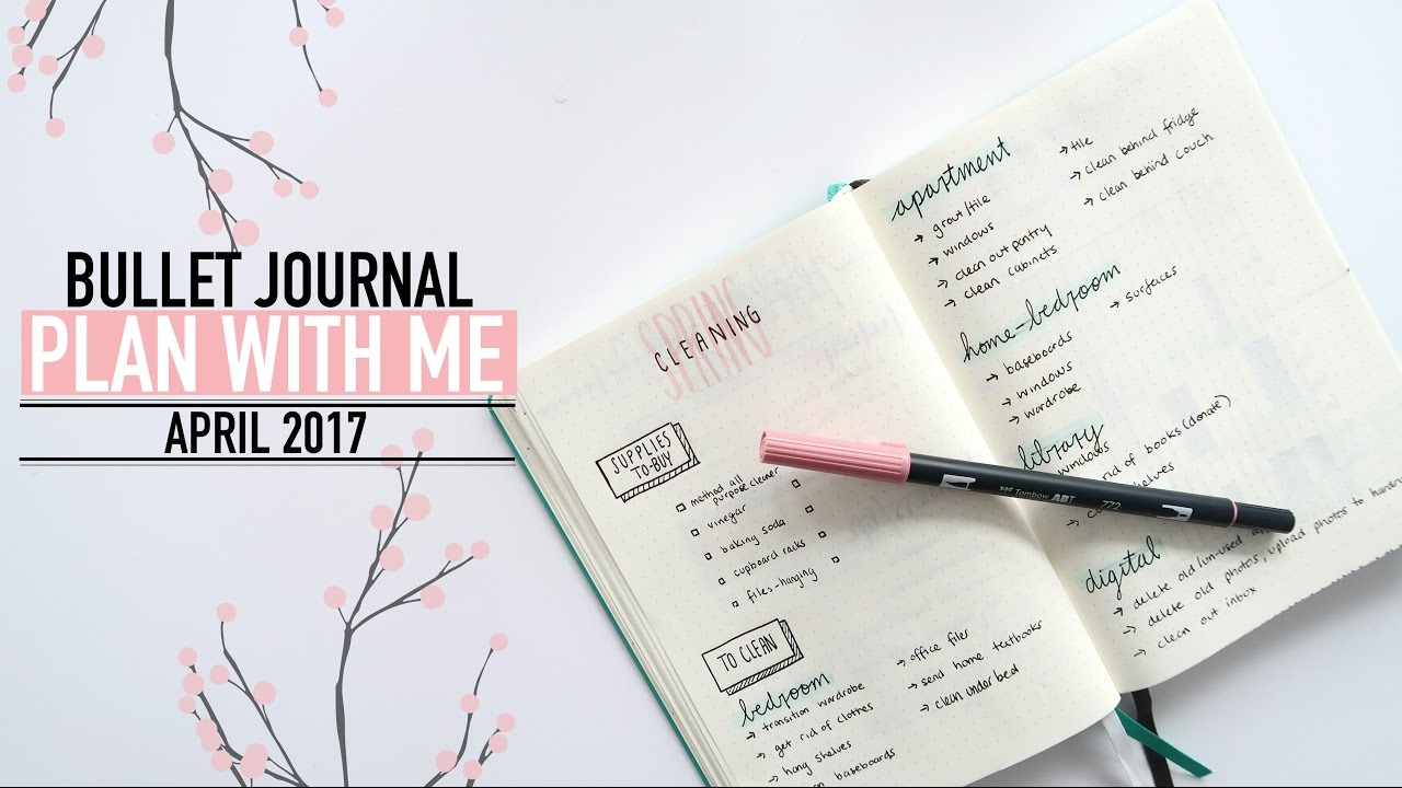 Bullet journal plan with me april 2017 youtube for Plan me
