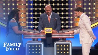 Ladies, here's a sign he's about to PROPOSE...   Family Feud