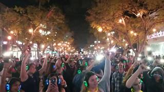 Fun w/Flashlights in Santa Monica @Third Street Promenade's first ever silent disco!
