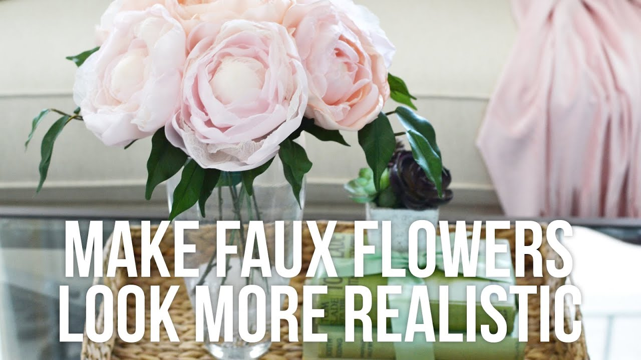 Tip Tuesday: How to Make Faux Flowers Look More Realistic - YouTube