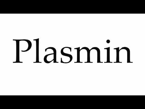 How to Pronounce Plasmin