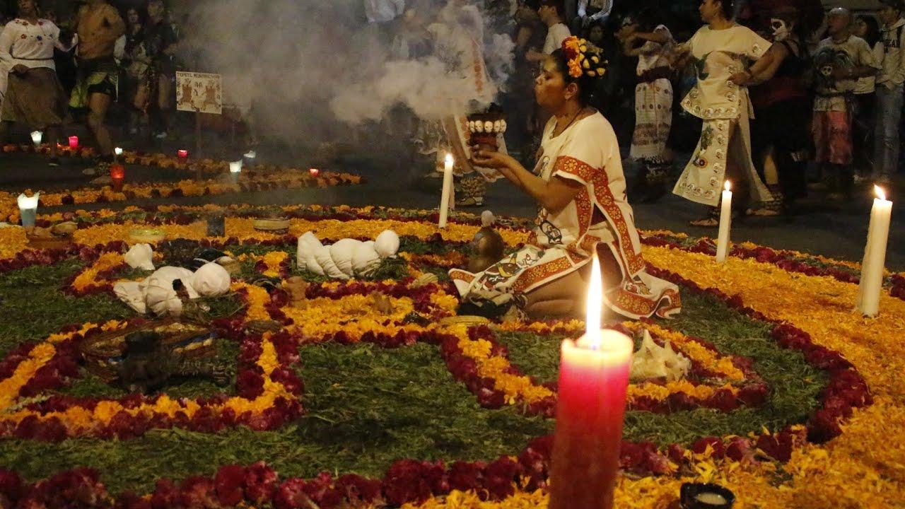 Ofrenda prehispánica Micailhuitl (Festividad de día de muertos) - YouTube