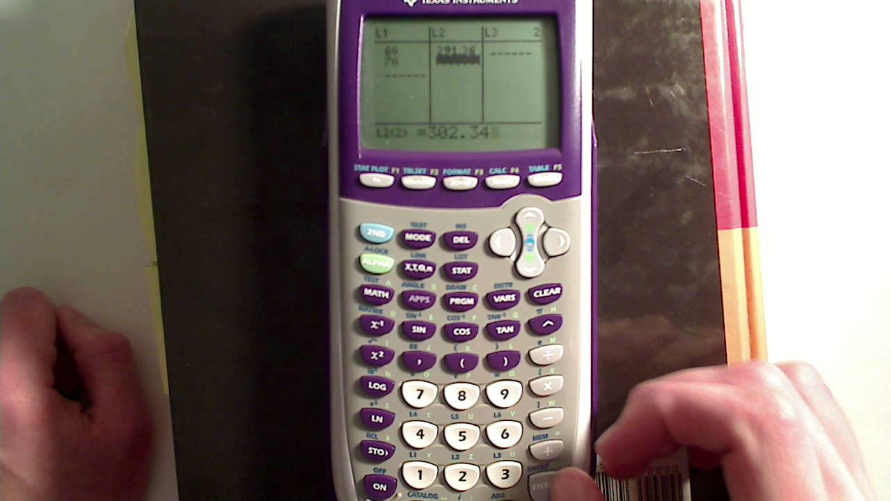 lesson 4 1 linear interpolation with a calculator youtube