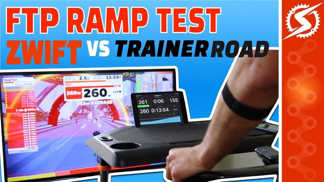 Zwift FTP RAMP Test vs TrainerRoad RAMP Test