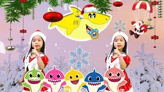 💃Christmas Baby shark Song🦈 Noel Sing & Dance💃 More Nursery Rhymes 🎧 Kids Songs