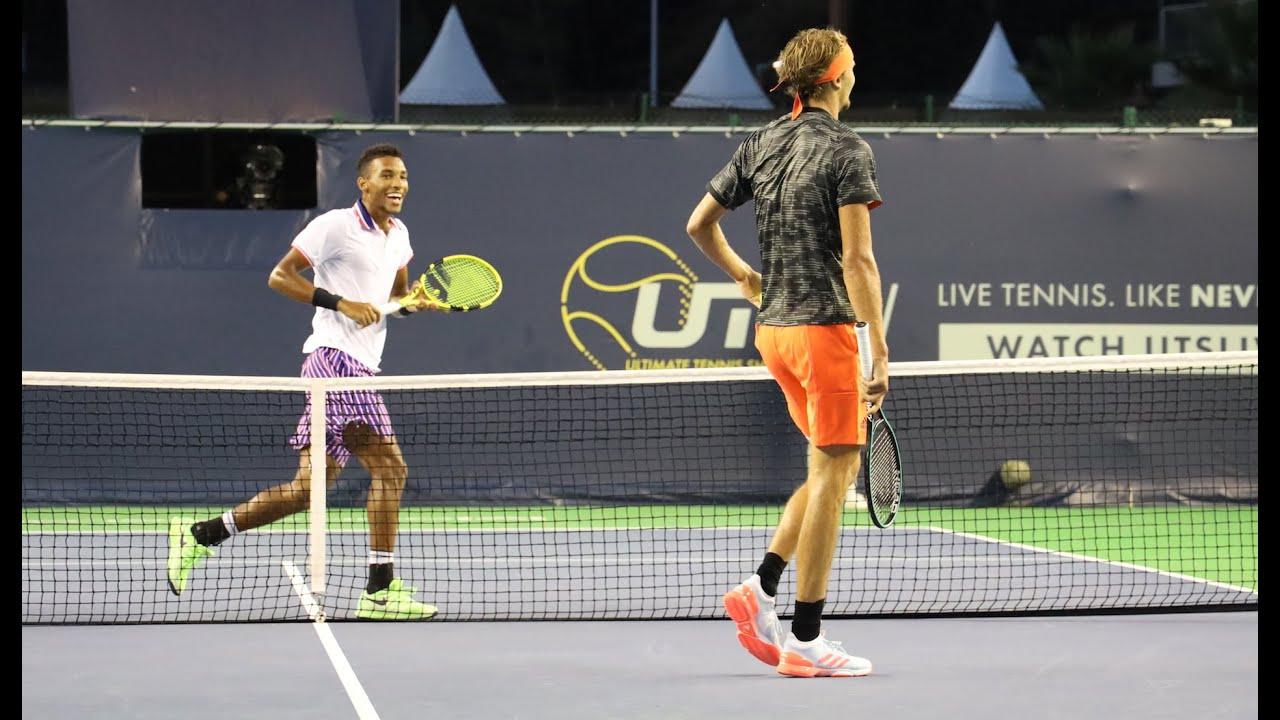Alex Zverev Vs Felix Aliassime Uts Tennis Showdown Highlights Hd Youtube