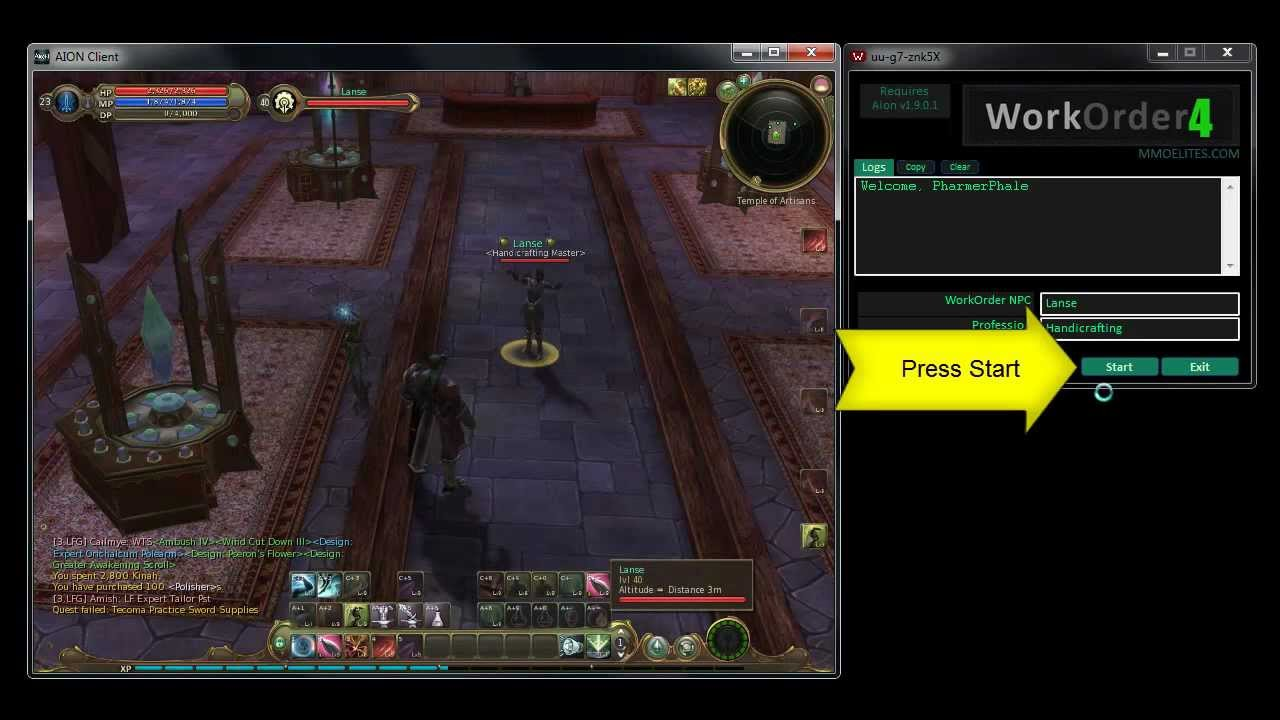 Aion Crafting Bot Workorder4 Mmoelites Com Youtube