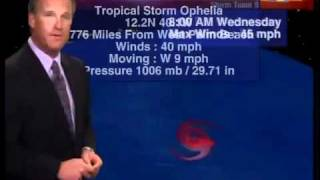 Tropical Storm Ophelia forms