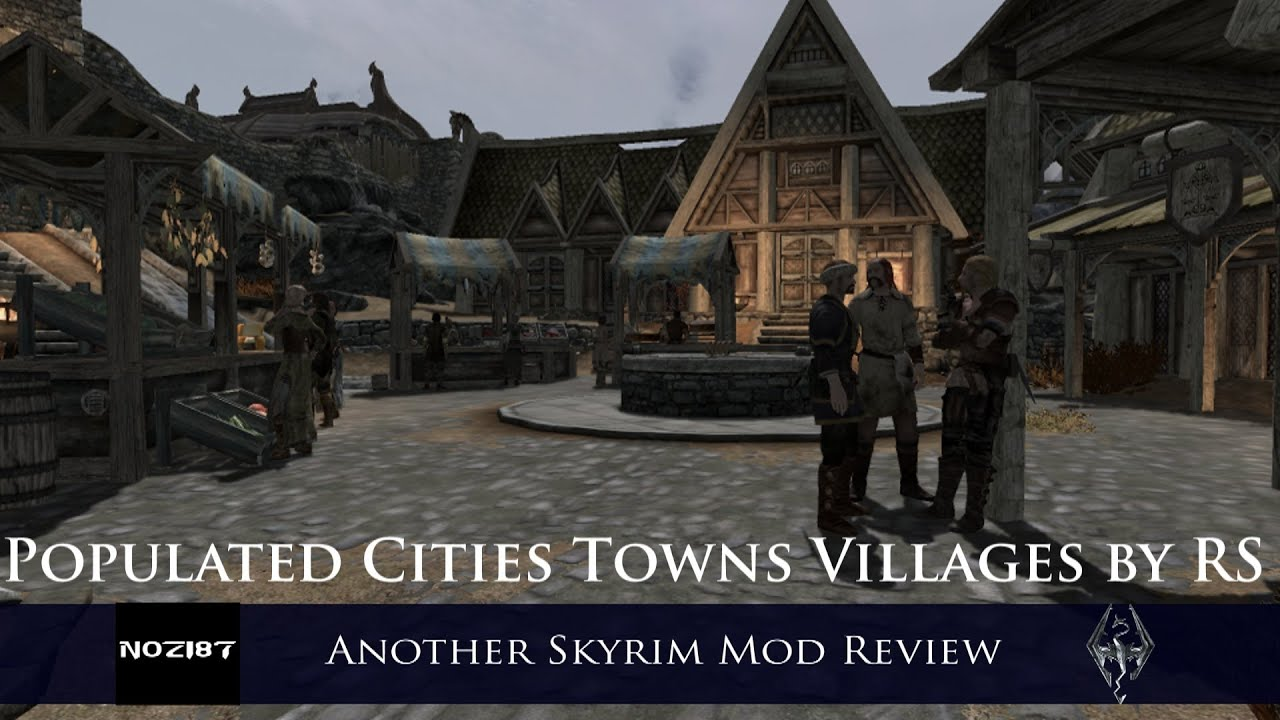 Populated cities town villages skyrim rus скачать