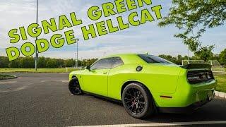 Signal Green Dodge Dodge Challenger SRT Hellcat