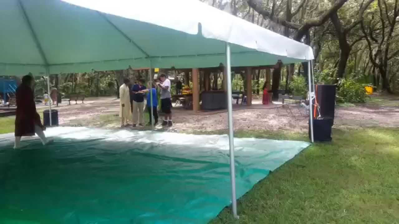 & Tent rental tampa 30x30 frame canopy - YouTube