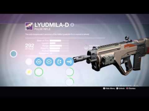 Destiny Lyudmila-D Legendary Weapon Review + Gameplay