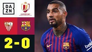 Kevin-Prince Boatengs Debüt geht in die Hose: FC Sevilla - FC Barcelona 2:0 | Copa del Rey | DAZN