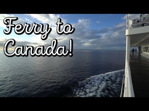 FERRY To Canada!! (Vancouver Island)