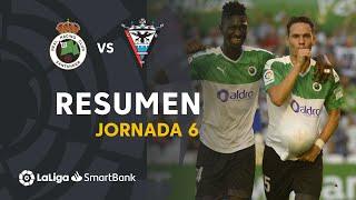 Resumen de Real Racing Club vs CD Mirandés (4-0)