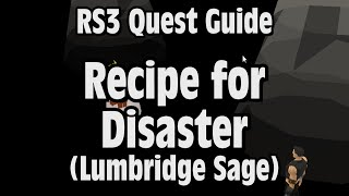 RS3: Recipe for Disaster (Lumbridge Sage) Quest Guide - RuneScape