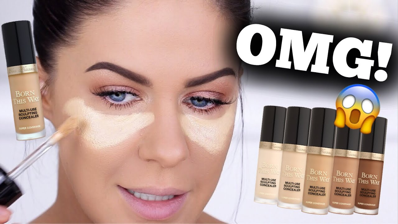 New Too Faced Super Coverage Concealer Better Than Tarte Shape Tape Youtube
