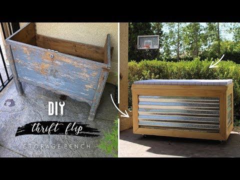 DIY Storage Bench | Thrift Flip