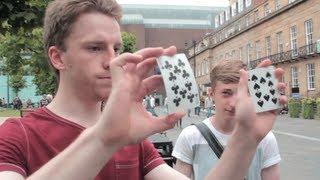 Cards change places INSTANTLY! Amazing magic trick! | Steven Bridges Magic