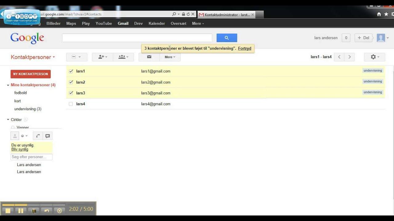 lav en ny gmail