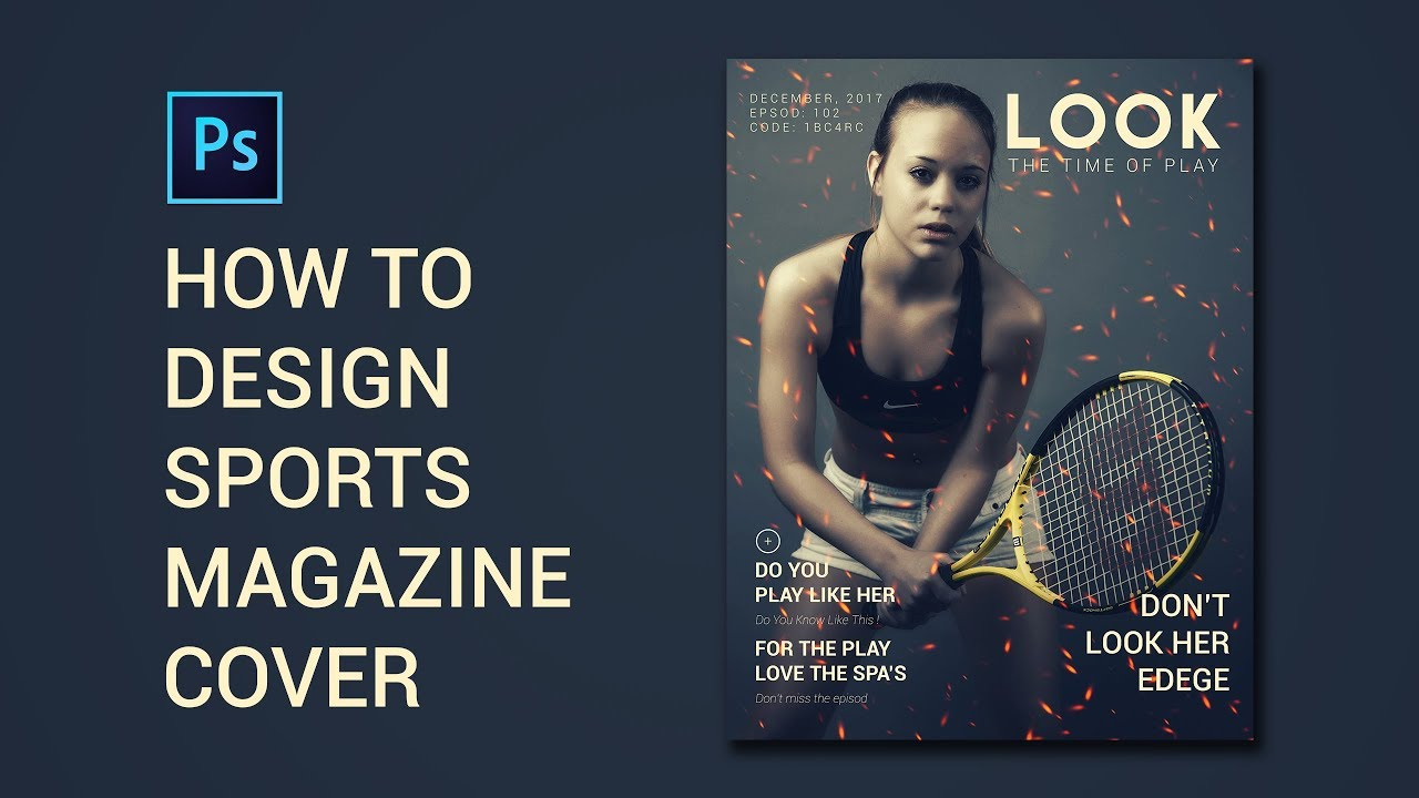 HOW To DESIGN SPORTS MAGAZINE Cover | Photoshop cc ...
