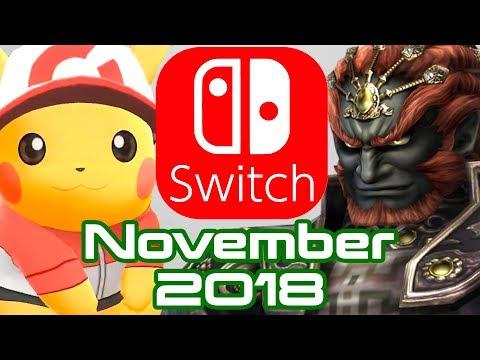 10 Nintendo Switch Games Coming November 2018!