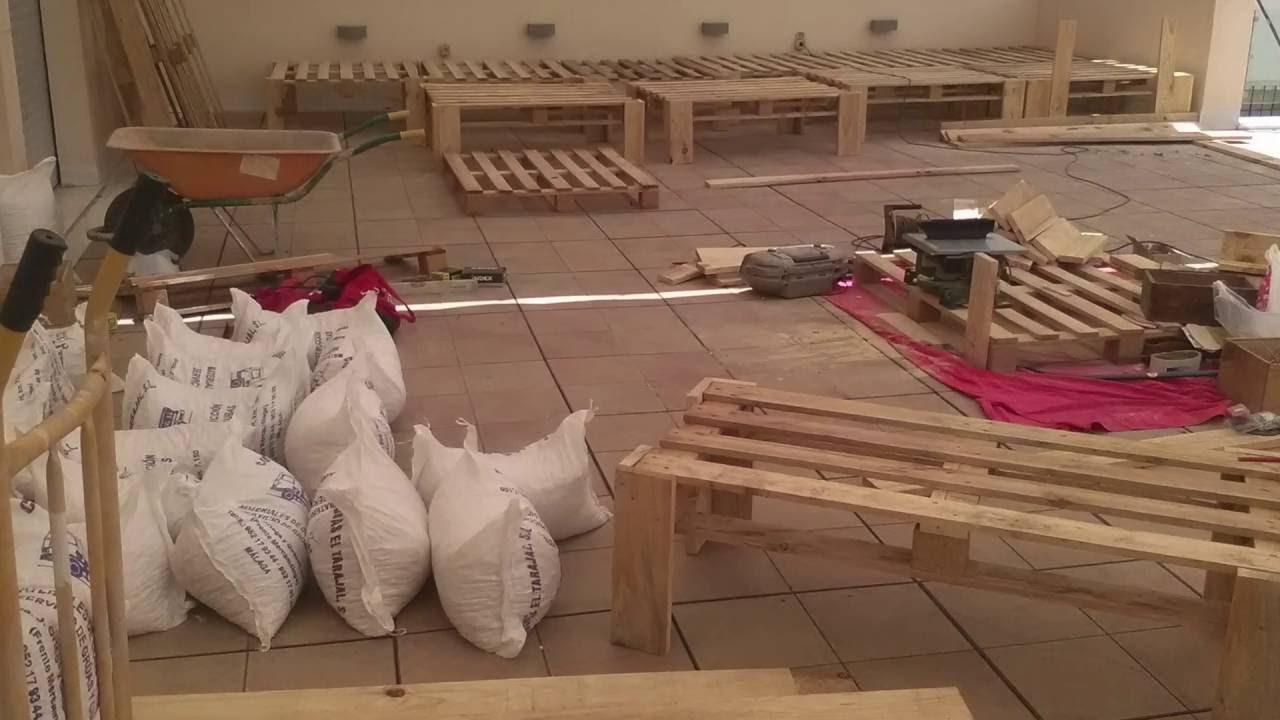 como hacer dos jardineras con palets de madera por jardinera angulo