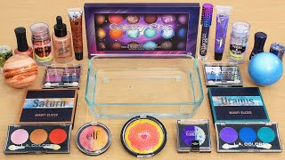 The Galaxy - Mixing Too Much Makeup and Eyeshadow Into Slime ASMR