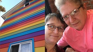 Lesbian Couple Paints Their House with Rainbow Colors To Show Pride