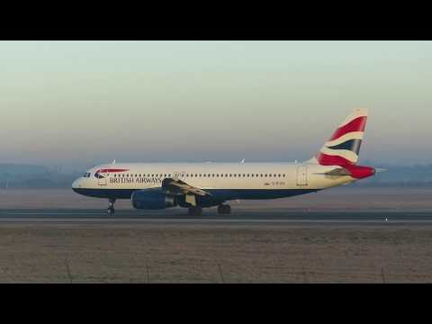 British Airways - Airbus A320 Take off 26L OTP - Spotting Romania Bucharest Airports