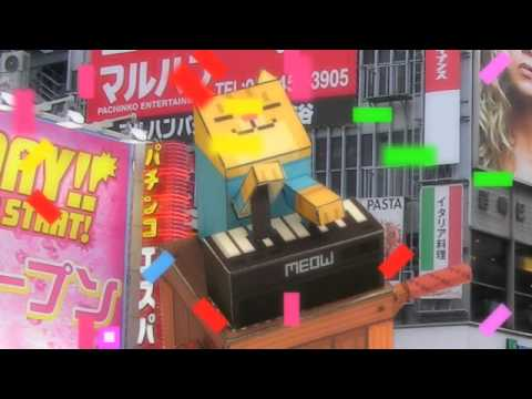 Papercraft keyboard cat papercraft tribute