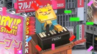 keyboard cat papercraft tribute