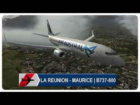 Flight Simulator X | LA REUNION Roland-Garros ✈️ MAURICE Sir Seewoosagur | Air Austral B737-800 PMDG