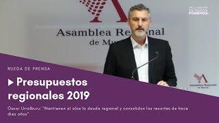 Presupuestos Región de Murcia 2019: récord de deuda y mantienen los recortes de hace 10 años.
