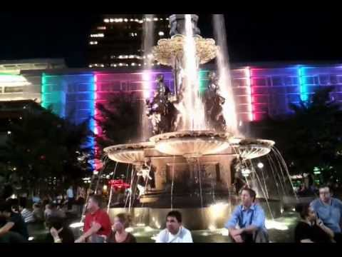 A Night at Fountain Square, Cincinnati, Ohio, USA