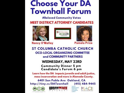 Alameda County (CA) District Attorney Townhall, 2018 May 23