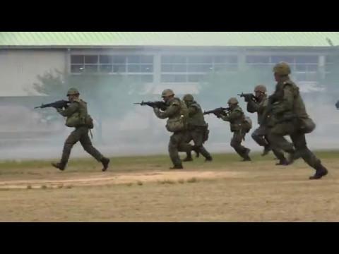 大津駐屯地 訓練展示 2017 陸上自衛隊