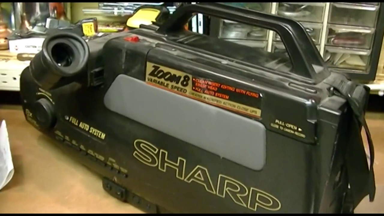 Late 80s Sharp Vhs Camcorder