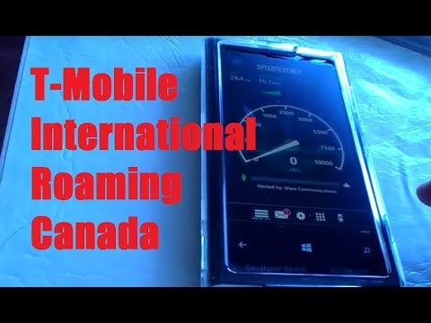 T-Mobile International Roaming In Canada! (Testing Text/Data Speed/Calls)