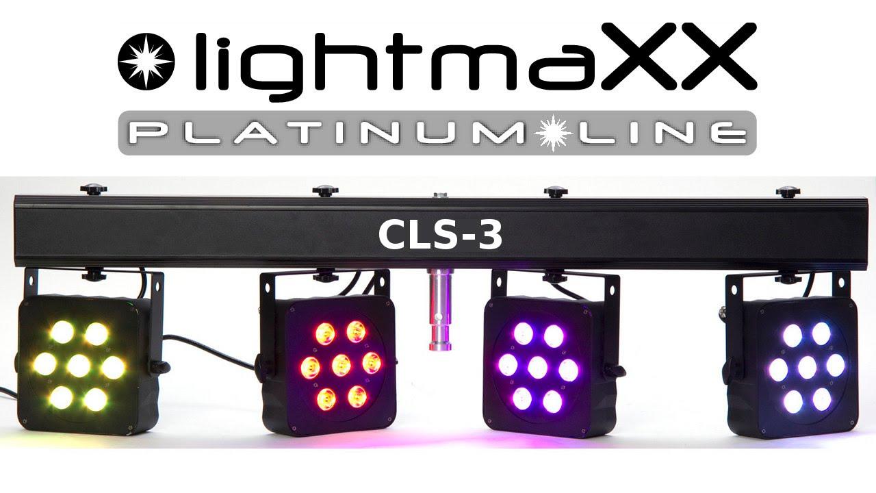 lightmaXX CLS-3 QUAD-LED Bar Licht Set System Präsentation - YouTube