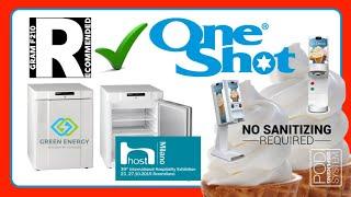 One shot ice cream machine for Fiera tecnologica milano 2016