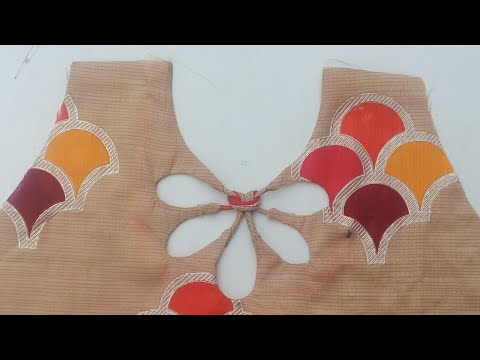 Diy Back neck design for churidar, blouse and top