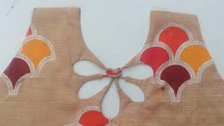 Diy Back neck design for churidar, blouse and top