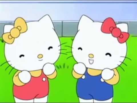 Kartun Spesial 3d Film Anak Perempuan Kitty Bangun Pagi Lucu