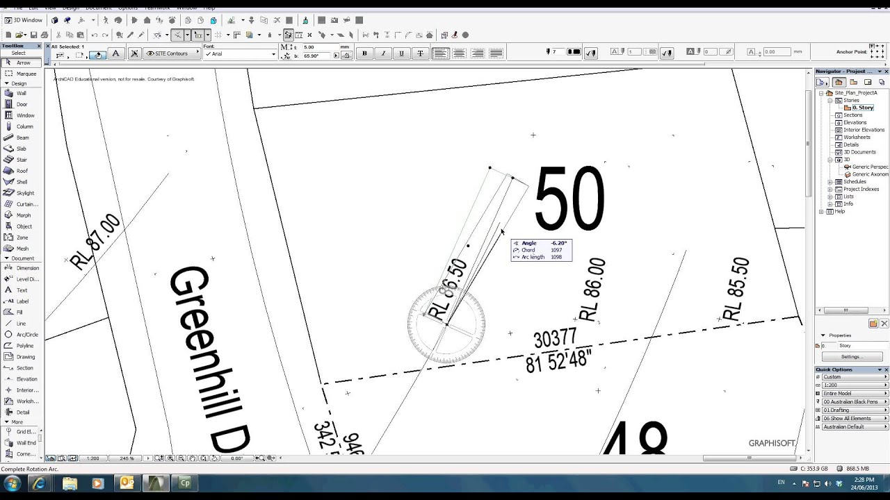 04ArchiCAD 16 Site Analysis YouTube – Site Analysis Plan