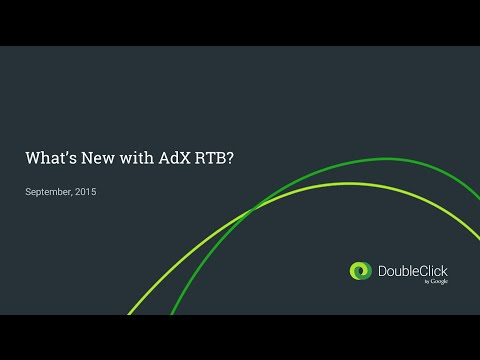 What's new with AdX RTB? September 2015