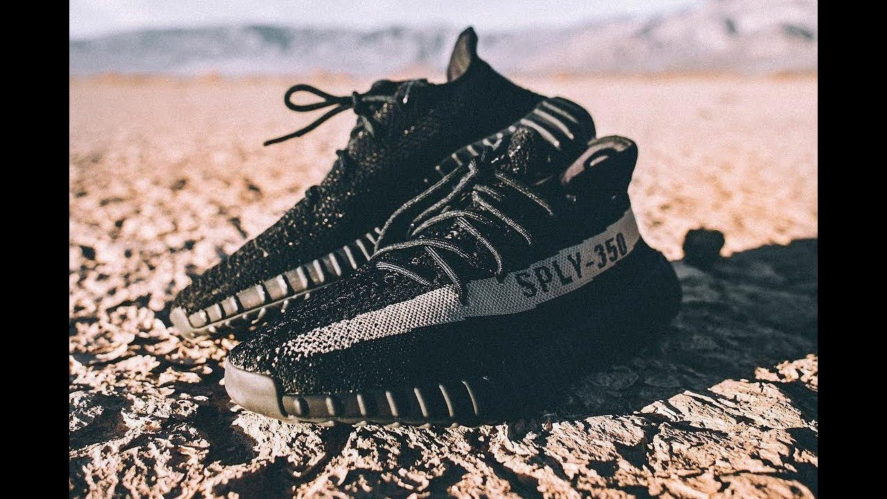 dc08cc2f9599c6 Adidas Yeezy Boost 350 V2 Core Black White BY1604 - YouTube